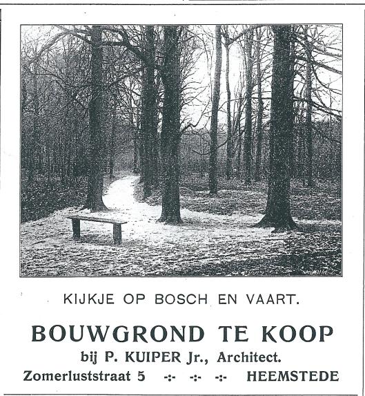 Adv. Bosch en Vaart, uit: Zondagsblad O.H.C., 13 september 1909