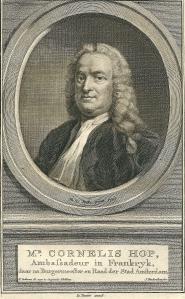Mr. Cornelis Hop. Gravure door J.Houbraken