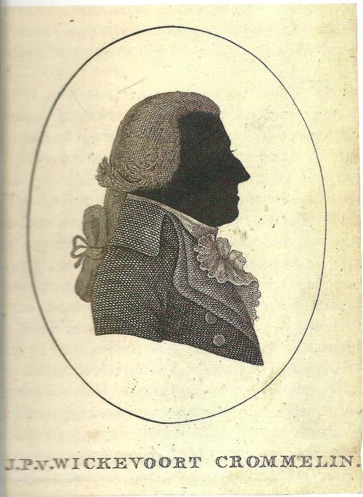 Silhouet van J.P.van Wickevoort Crommelin uit 1795