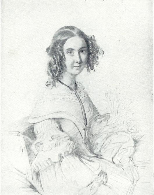 Moeder A.M.Barones Van Verschuer-Brants (1817-1901) in 1838.