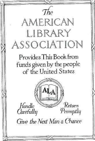 Exlibris American Library Association (ALA)