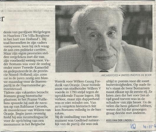 Vervolg necrologie uit het Haarlems Dagblad van 10-11-2000