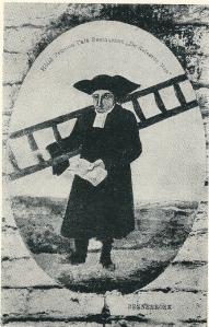 Schildering van 'de Geleerde Man' (19e eeuw)