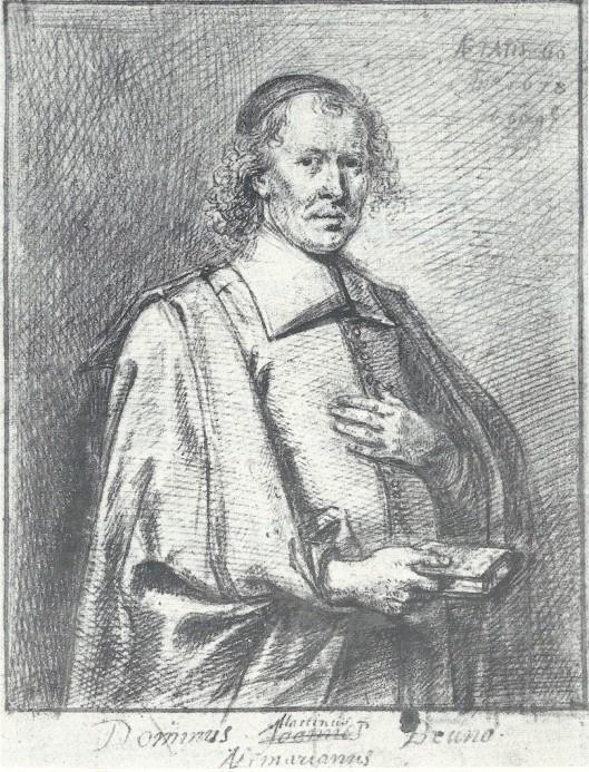 Lang meende men dat de afgebeelde persoon Martinus Bruno, predikant in o.a. Heemstede was. Het blijkt echter diens zoon Johannes Bruno te zijn, die predikant was in Egmond (Rijksprentenkabinet Amsterdam)