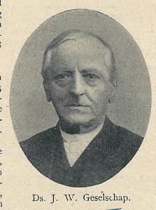 Dominee J.W.Geselschap op latere leeftijd (De Prins, 1905)