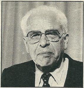 Ds. M.L.W,Schoch in 1986. Hij was een vruchtbaar publicist en verzorgde 'dagsluitingen' voor de NCRV-radio.