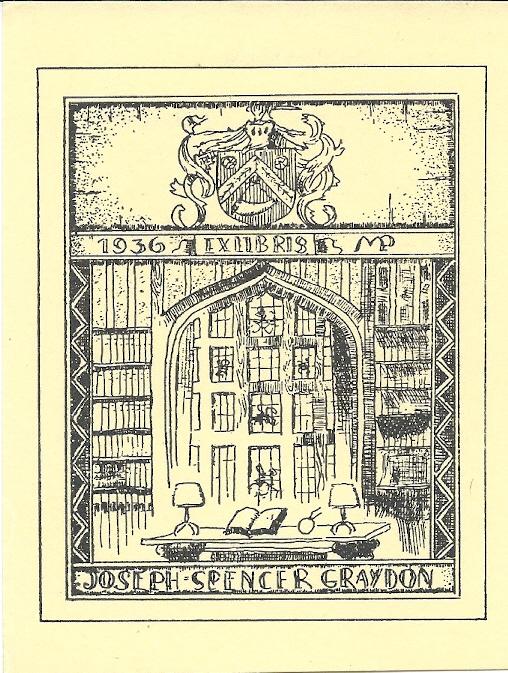 Joseph Spencer Graydon (geb. 1876-ov.1936 in Cincinnati) schonk zijn boeken aan Cincinnati and Hamilton Public Library
