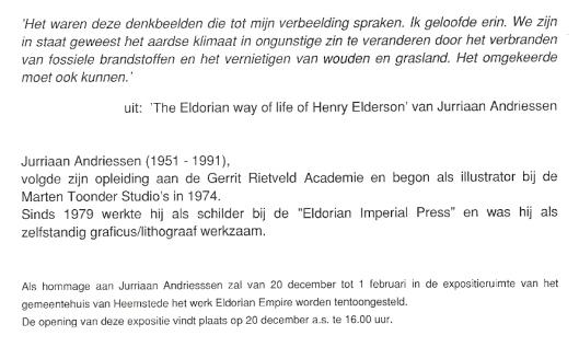 De uitnodigings- tevens wenskaart van het gemeentebestuur van Heemstede