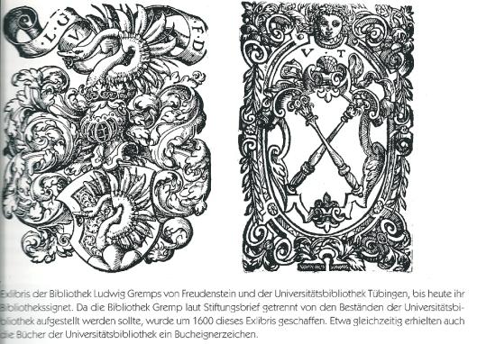 Uit: Bücher, Stifter, Bibliotheken. Buchkultur zwischen Neckar und Bodensee, von Gerhard Römer, 1997.