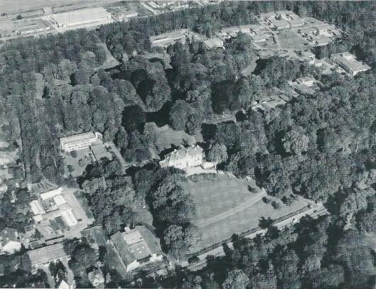 Luchtfoto van de Hartekamp uit 1952