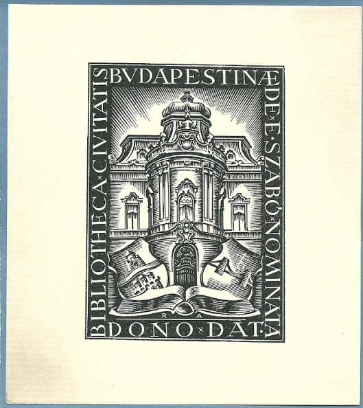 Exlibris openbare bibliotheek Ervin Szabo in Budapest, Hongarije