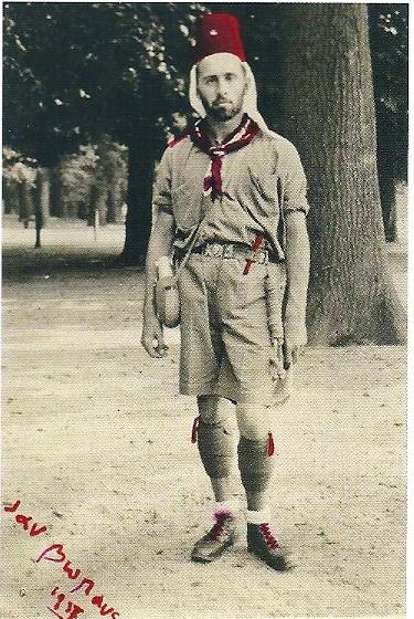 Jan Bomans in zijn rol als prins van Djibouti in 1937
