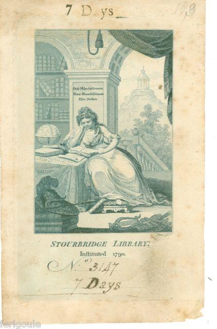Exlibris van Stourbridge library, Engeland