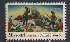 Postage stamp USA issued 8 May 1971. Picture based on a mural by Thomas Hart Benton in the Truman Presidential Library in Independence, Missouri