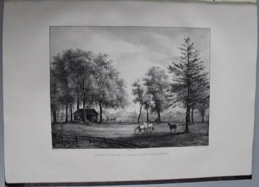 Vogelenzand met in de verte de R.K.kerk (P.J.Lutgers, circa 1840)