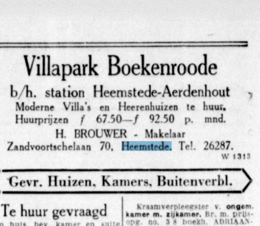 Advertentie uit De Telegraaf van 19 januari 1929