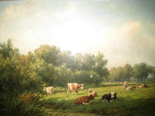 Willem Vester: koeien op de weilanden van 't Klooster (eigendom VOHB/HVHB)