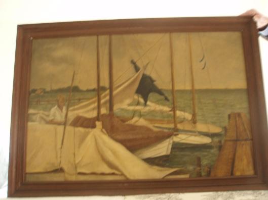 Op de Loosdrechtse Plassen; schilderij van Helena Elizabeth Goudeket