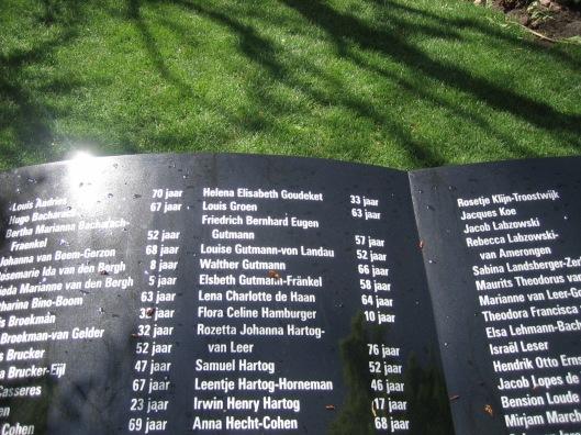 Op het Joods monument in Heemstede staan ook de namen van het echtpaar Gutmann van Bosbeek