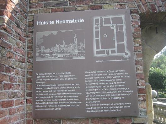 Informatiebord bij het Oude Slot Heemstede
