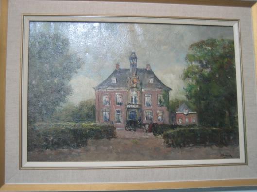 Schilderij van het raadhuis Heemstede uit circa 1910 door Jan Hillebrand Wijsmuller (1855-1925) (gemeente Heemstede)