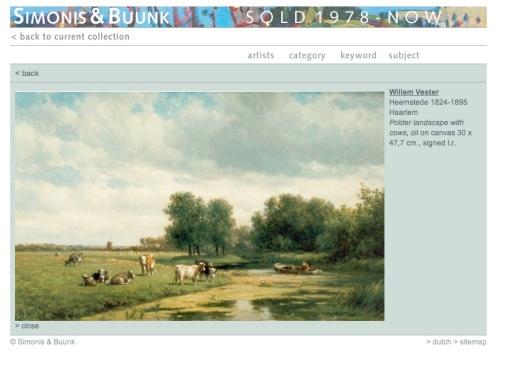Willem Vester: Polderlandschap Schouwbroekerpolder Heemstede (Simonis & Buunk)