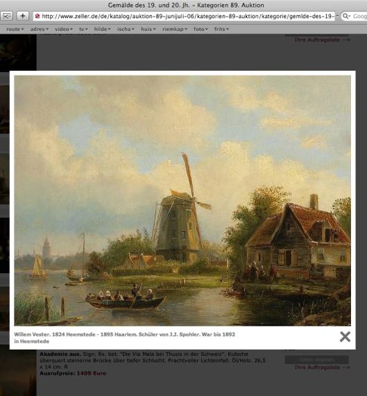 Willem Vester: molengezicht bij Haarlem (zeller)