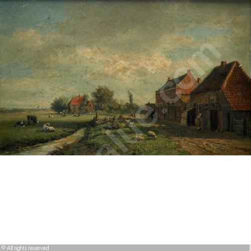 Boerderij in Heemstede; door Gesine Andriessen-Vester, 1857