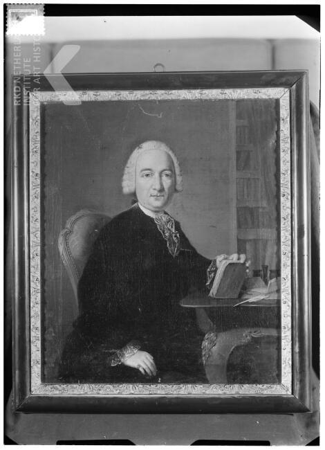 Geschilderd portret van Henty Clifford (was gehuwd met Adriana Margaretha van Marselis), door Jean Humbert, gedateerd 1763. (TKD, Iconografisch bureau - portret in particuliere collectie)