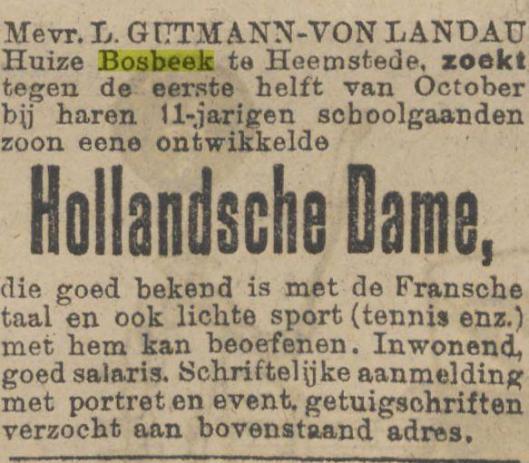 Advertentie uit het Algemeen Dagblad van 12 september 1925