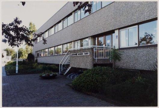 Gebouw van het Gemeentelijk Technisch Bedrijf aan de Van den Eijndekade in 1985