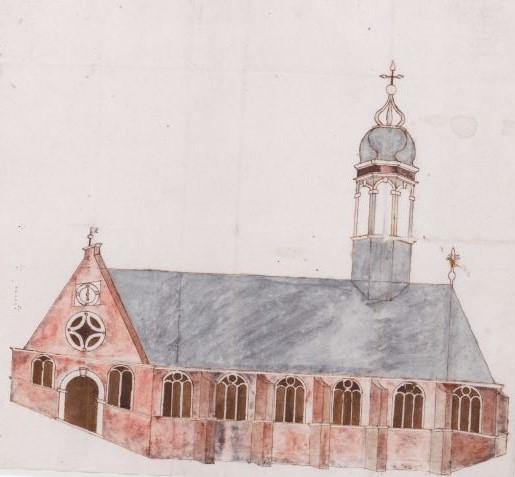 Ontwerptekening Oude Kerk Heemstede (NH-Archief Haarlem)