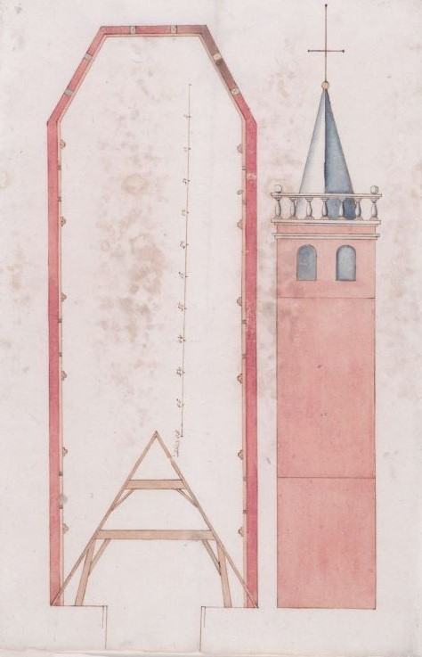Niet uitgevoerd ontwerp voor een protestantse kerk Heemstede (NHA-Haarlem)