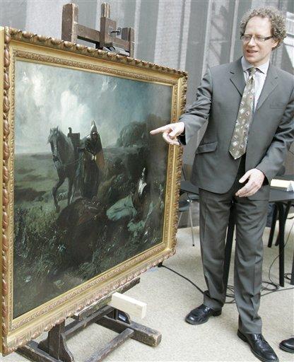 Nicholas Purdeck, kleinzoon van Herbert M.Gutmann sprak in 2009 in het 'Wien Museum' over het gerestitueerde schilderij 'Pappenheim's Dood' door Hans Makart (1840-1884).