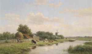 Landschap Heemstede; door Willem Vester (Veilinghuis Dorotheum, Wenen)