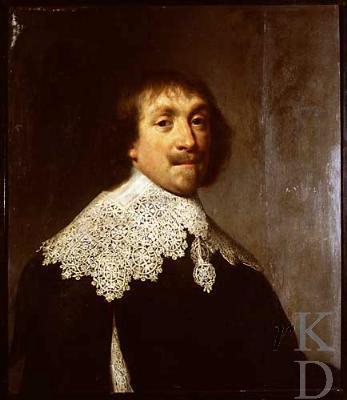 Nicolaas Seys Pauw, overleden in 1639. Twee jaar voordien had hij, nog zonder nageslacht, nota bene 4 graven in de oude kerk van Beverwijk gekocht, 3 'in een kelder op onse lieve vrouwe choor' en 1 bij de ingang van de kelder. (foto RKD, Iconografisch Bureau)