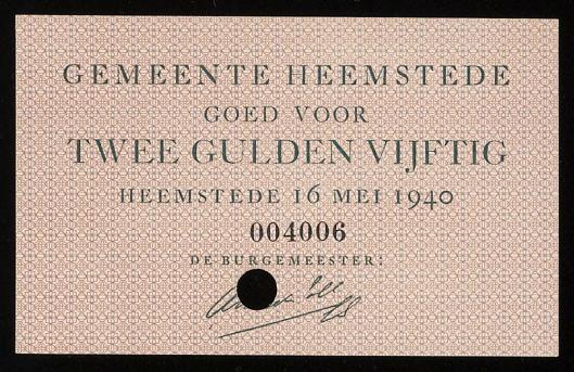 Noodgeld Heemstede, 1940