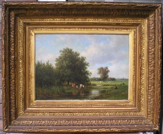 Landschap rond 'Oosterhout' (sinds 1927 Haarlem-Zuid) door Willem Vester