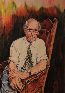 Portret van Anton Pieck door Fred Rosenhart