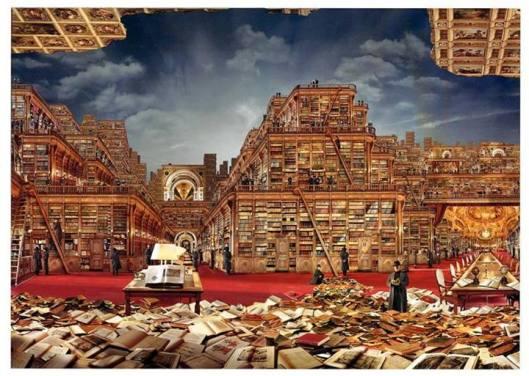 J.F.Rauzier, 'Bibliothèque Idéale', 2006