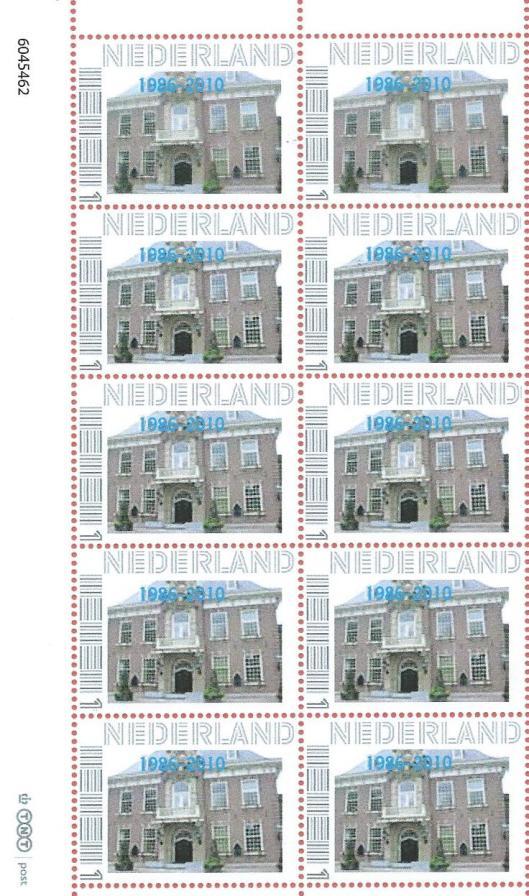 Een door TNT post in 2010 geëmitteerde postzegel met een afbeelding van het raadhuis in Heemstede