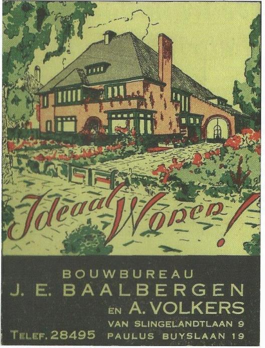 Voorzijde van brochure 'Ideaal Wonen!', uitgegeven door bouwbureau Baalbergen en Volkers