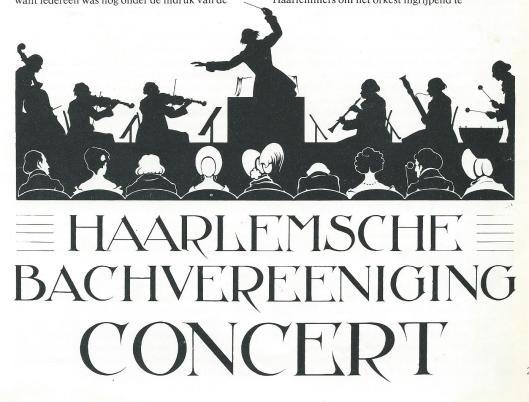 In 1942 maakte Anton Pieck deze ontwerptekening voor een affiche van de in 1867 gestichte Haarlemsche Bachvereniging