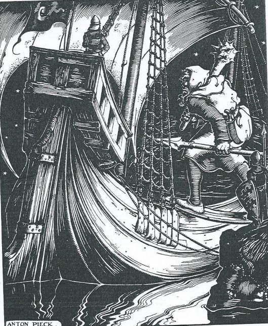 De 'Sparewouwer reus', Illustratie van Anton Pieck uit Gijsbregt van Aemstel