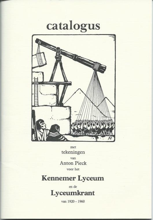 Voorzijde catalogus met tekeningen van Anton Pieck voor het Kennemer Lyceum en de Lyceumkrant van 1920-1960.