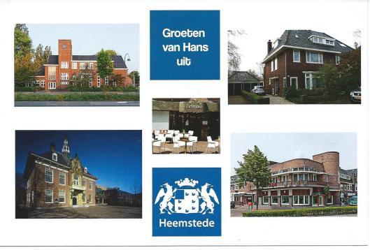 Ansichtkaart met favoriete plekken van Hans Krol in Heemstede