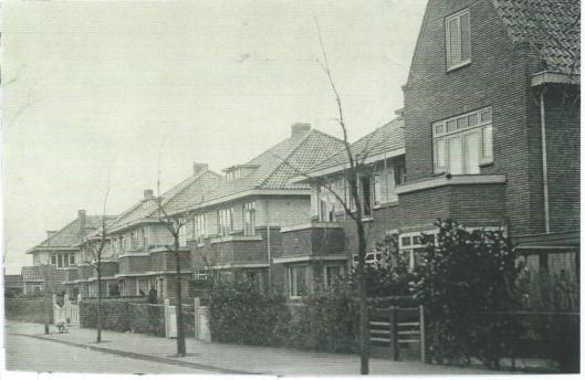 De Johannes Vermeerstraat op een foto uit 1938
