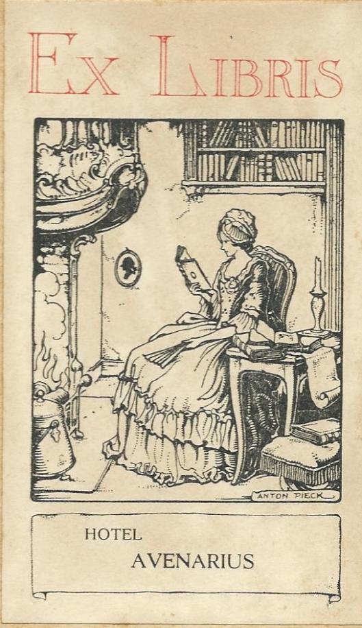 Ex libris door Anton Pieck (Hotel Avenarius)