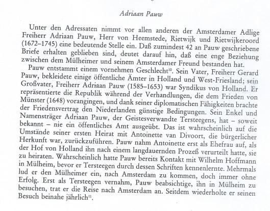 Einleitung: Adriaan Pauw, door C.P.van Andel, 1982, pagina XVI.