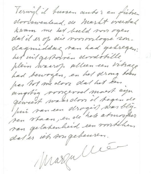 Handschrift van Marga Minco